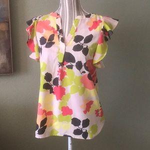 Gap floral top, polyester blend